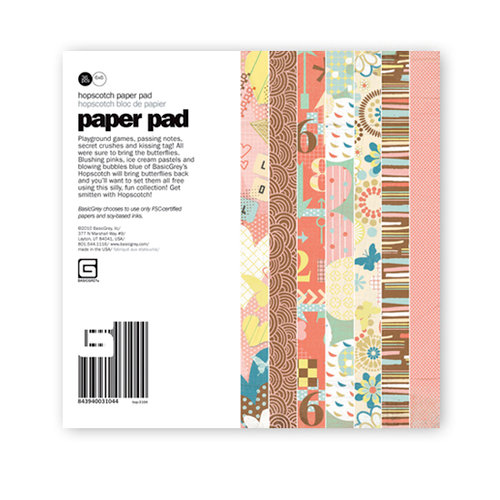 BasicGrey - Hopscotch Collection - 6 x 6 Paper Pad