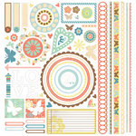 BasicGrey - Hopscotch Collection - 12 x 12 Element Stickers - Shapes