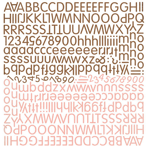 BasicGrey - Hopscotch Collection - 12 x 12 Alphabet Stickers