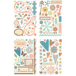 BasicGrey - Hopscotch Collection - Adhesive Chipboard - Shapes