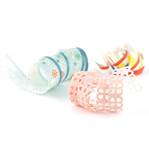 BasicGrey - Hopscotch Collection - Doilies - Self Adhesive Ribbon