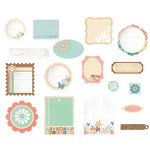 BasicGrey - Hopscotch Collection - Die Cut Cardstock Pieces