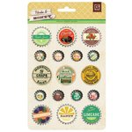 BasicGrey - Herbs and Honey Collection - Bottle Cap Stickers