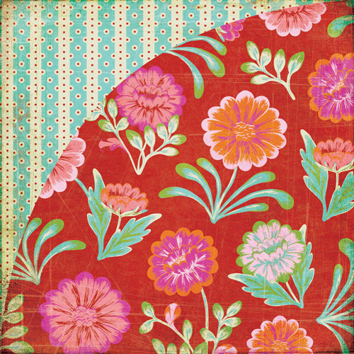 BasicGrey - Indie Bloom Collection - 12 x 12 Double Sided Paper - Tarantella