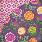 BasicGrey - Indie Bloom Collection - 12 x 12 Double Sided Paper - Flamenco