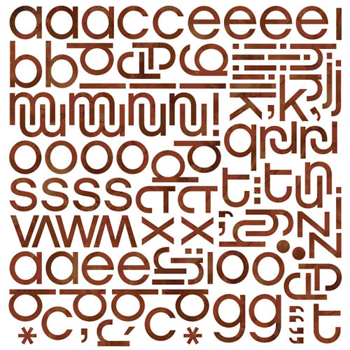 BasicGrey - Indian Summer Collection - Mini Monogram Stickers - Hip , BRAND NEW