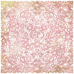 BasicGrey - Indian Summer Collection - Doilies - 12 x 12 Die Cut Paper - Pink, BRAND NEW