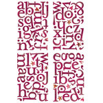 BasicGrey - Indian Summer Collection - Adhesive Chipboard - Alphabet