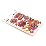 BasicGrey - Indian Summer Collection - Pops - 3 Dimensional Cardstock Stickers, CLEARANCE