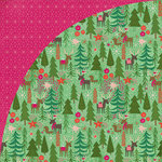 BasicGrey - Juniper Berry Collection - Christmas - 12 x 12 Double Sided Paper - Reindeer Games