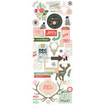 BasicGrey - Juniper Berry Collection - Christmas - Die Cut Cardstock and Vellum Pieces