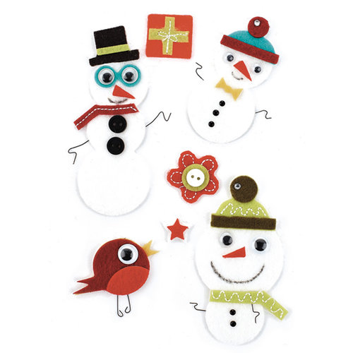 BasicGrey - Jovial Collection - Woolies - 3 Dimensional Felt Stickers, CLEARANCE