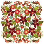BasicGrey - Jovial Collection - Doilies - 12 x 12 Die Cut Paper - Poinsettia Bouquet