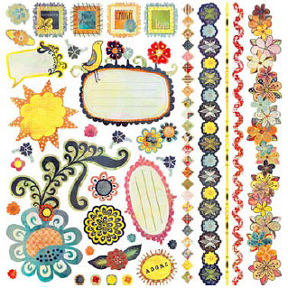 BasicGrey - June Bug Collection - 12 x 12 Element Stickers - Shapes