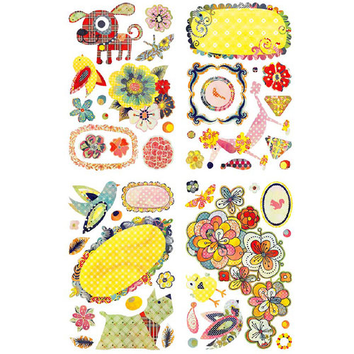 BasicGrey - June Bug Collection - Adhesive Chipboard - Shapes