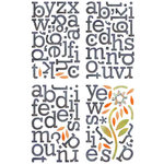 BasicGrey - June Bug Collection - Adhesive Chipboard - Alphabet
