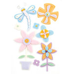 BasicGrey - Kioshi Collection - Woolies - 3 Dimensional Felt Stickers, CLEARANCE