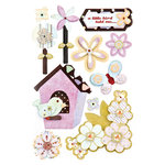 BasicGrey - Kioshi Collection - Pops - 3 Dimensional Cardstock Stickers, CLEARANCE