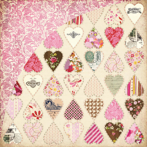 BasicGrey - Kissing Booth Collection - 12 x 12 Double Sided Paper - Heartbreaker
