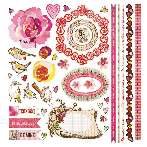 BasicGrey - Kissing Booth Collection - 12 x 12 Element Stickers - Shapes