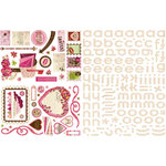 BasicGrey - Kissing Booth Collection - Glitter Adhesive Chipboard - Shapes and Alphabets
