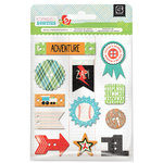 BasicGrey - Knee Highs and Bow Ties Collection - Adhesive Chipboard - Buttons - Bow Ties