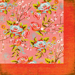 BasicGrey - Konnichiwa Collection - 12 x 12 Double Sided Paper - Jasmine Tea