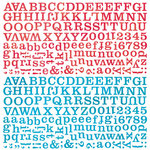 BasicGrey - Lauderdale Collection - 12 x 12 Alphabet Stickers