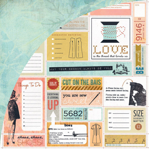 BasicGrey - Lucille Collection - 12 x 12 Double Sided Paper - Shift
