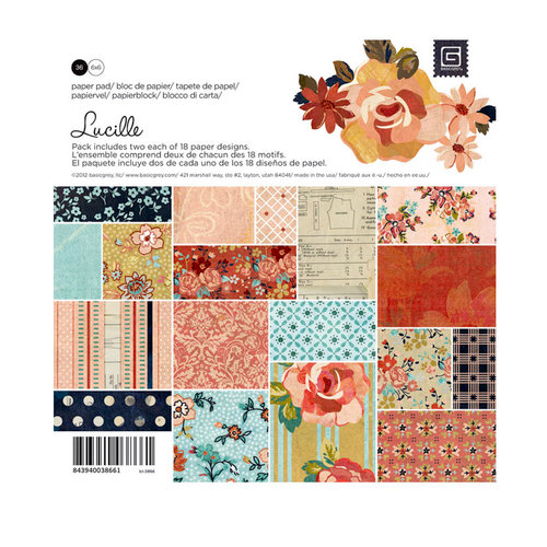 BasicGrey - Lucille Collection - 6 x 6 Paper Pad