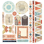 BasicGrey - Lucille Collection - 12 x 12 Element Stickers - Shapes