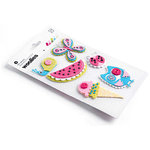 BasicGrey - Lemonade Collection - Woolies - 3 Dimensional Felt Stickers, CLEARANCE