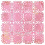 BasicGrey - Lemonade Collection - Doilies - 12 x 12 Die Cut Paper - Pink, CLEARANCE