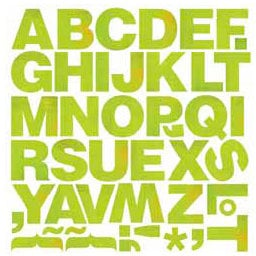 BasicGrey - Lime Rickey Collection - Monogram Stickers - Thickset, CLEARANCE
