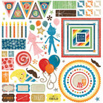 BasicGrey - Life of the Party Collection - 12 x 12 Element Stickers - Shapes
