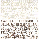 BasicGrey - Life of the Party Collection - 12 x 12 Alphabet Stickers