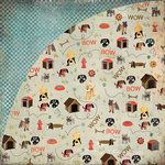 BasicGrey - Max and Whiskers Collection - 12 x 12 Double Sided Paper - Toby, CLEARANCE