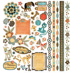 BasicGrey - Max and Whiskers Collection - 12 x 12 Element Stickers - Shapes, CLEARANCE