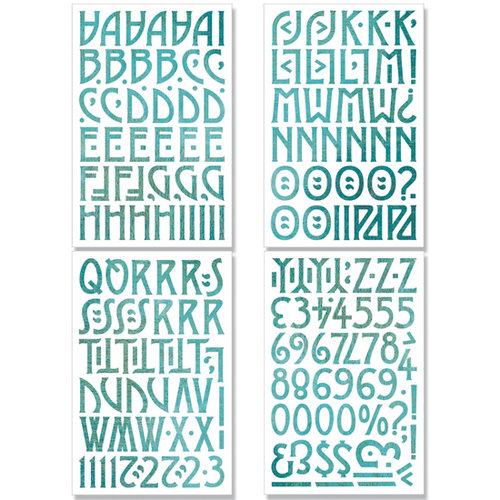 BasicGrey - Max and Whiskers Collection - Adhesive Chipboard - Alphabet