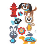 BasicGrey - Max and Whiskers Collection - Woolies - 3 Dimensional Felt Stickers, CLEARANCE