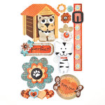 BasicGrey - Max and Whiskers Collection - Pops - 3 Dimensional Cardstock Stickers, CLEARANCE