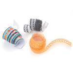 BasicGrey - Max and Whiskers Collection - Doilies - Self Adhesive Ribbon, CLEARANCE