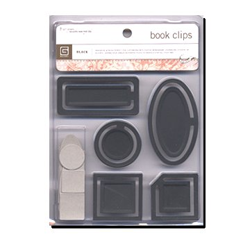 BasicGrey Jumbo Book Clips - Black, CLEARANCE