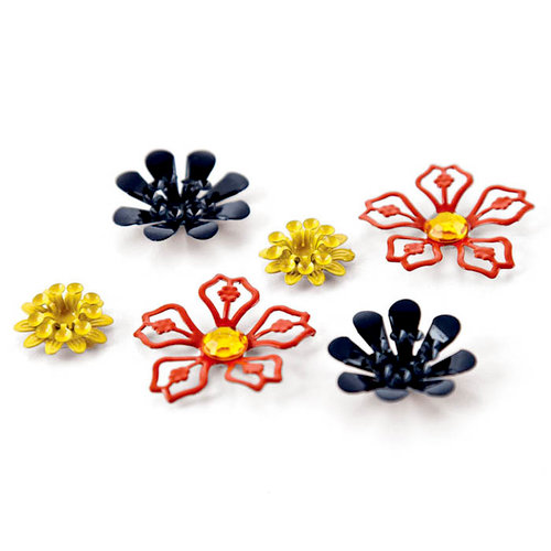 BasicGrey - PBandJ Collection - Metal Flowers