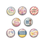 BasicGrey - Soleil Collection - Flair - 8 Adhesive Badges