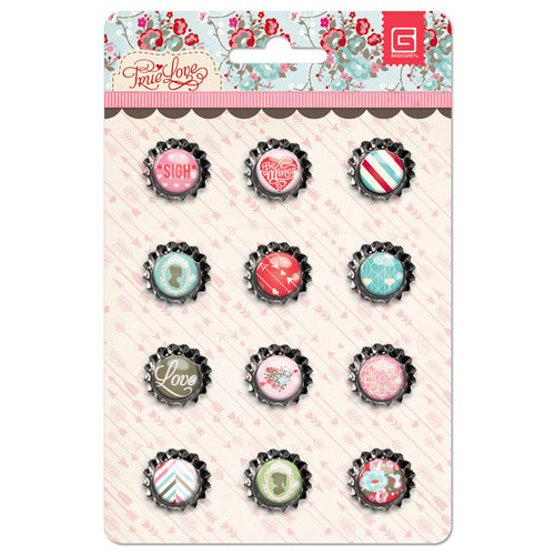 BasicGrey - True Love Collection - Bottle Cap Stickers