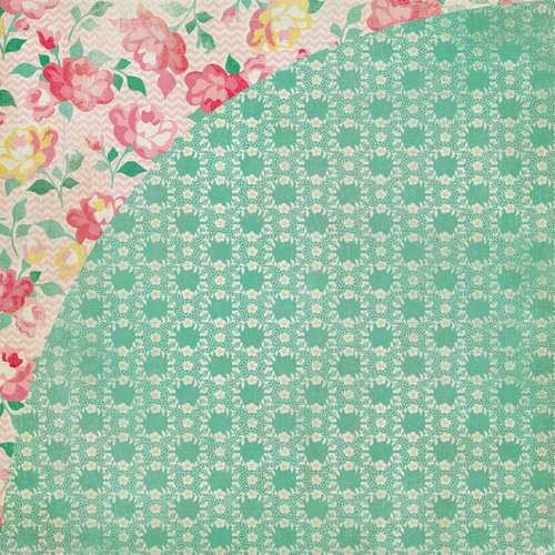 BasicGrey - Mint Julep Collection - 12 x 12 Double Sided Paper - Carolina
