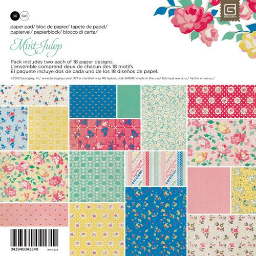 BasicGrey - Mint Julep Collection - 6 x 6 Paper Pad
