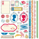 BasicGrey - Mint Julep Collection - 12 x 12 Element Stickers