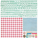 BasicGrey - Mint Julep Collection - 12 x 12 Alphabet Stickers